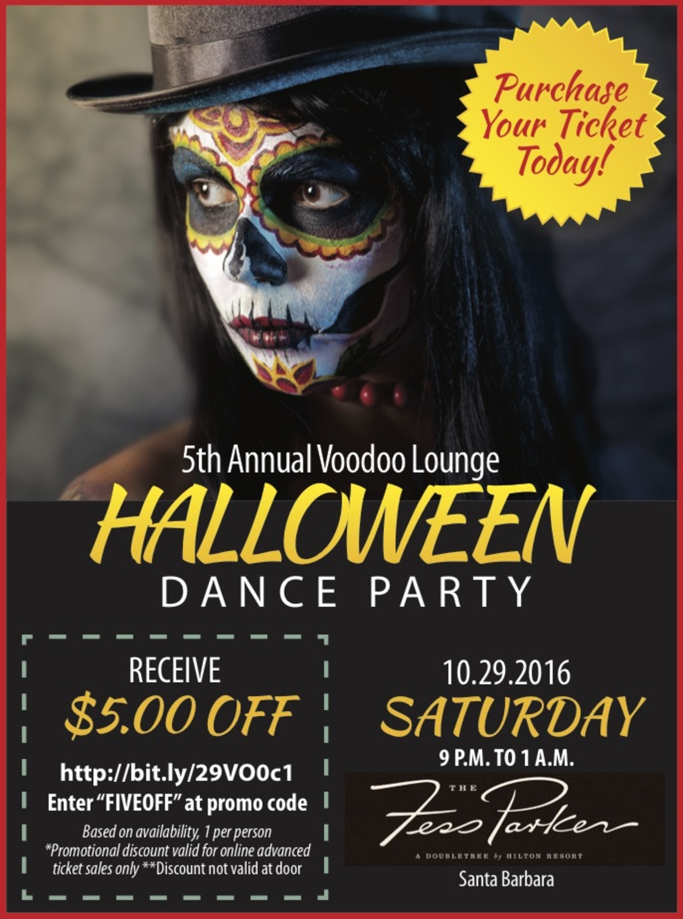 voodoo lounge 5th annual halloween dance party - fess parker
