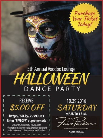 Voodoo Lounge 5th Annual Halloween Dance Party - Fess Parker DoubleTree Resort