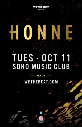 HONNE - Oct 11 - Santa Barbara, CA
