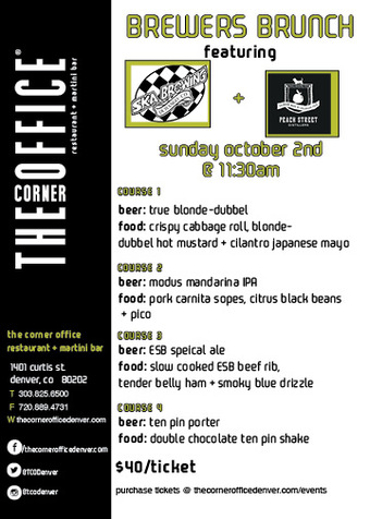 The Corner Office Brewers Brunch with SKA Brewing & Peach Street Distillers