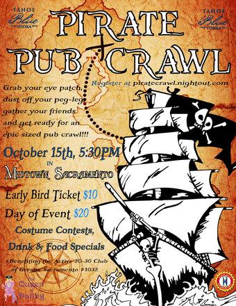 Sacramento's Pirate Bar Crawl