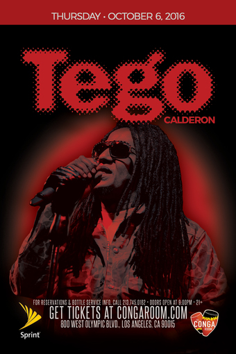 Sprint and the Conga Room present Tego Calderon