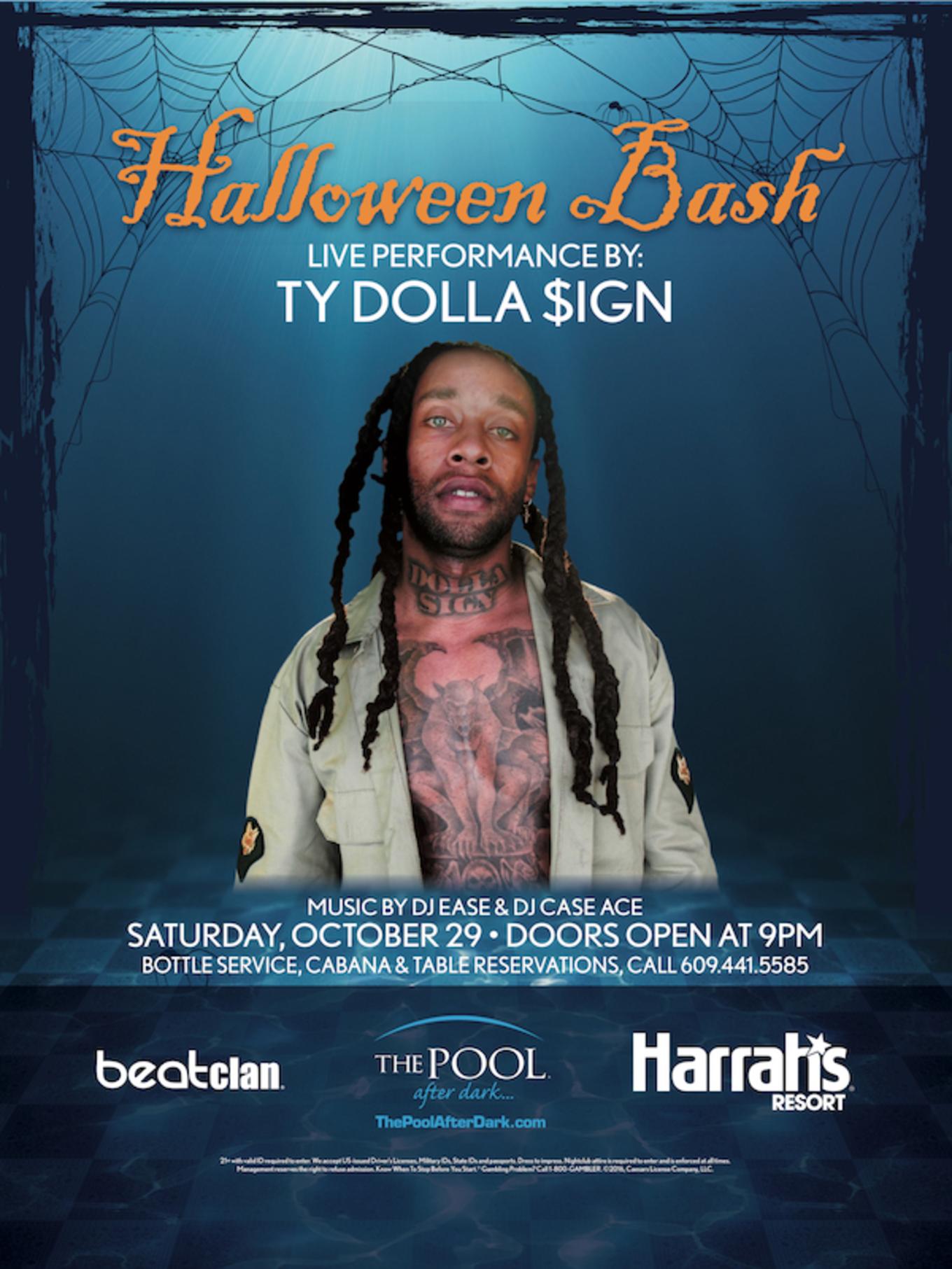 Halloween Bash - Tickets - The Pool After Dark at Harrah's Resort ...