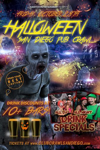 Halloween San Diego san diego monster bash San Diego Pre Halloween Costumed Pub Crawl