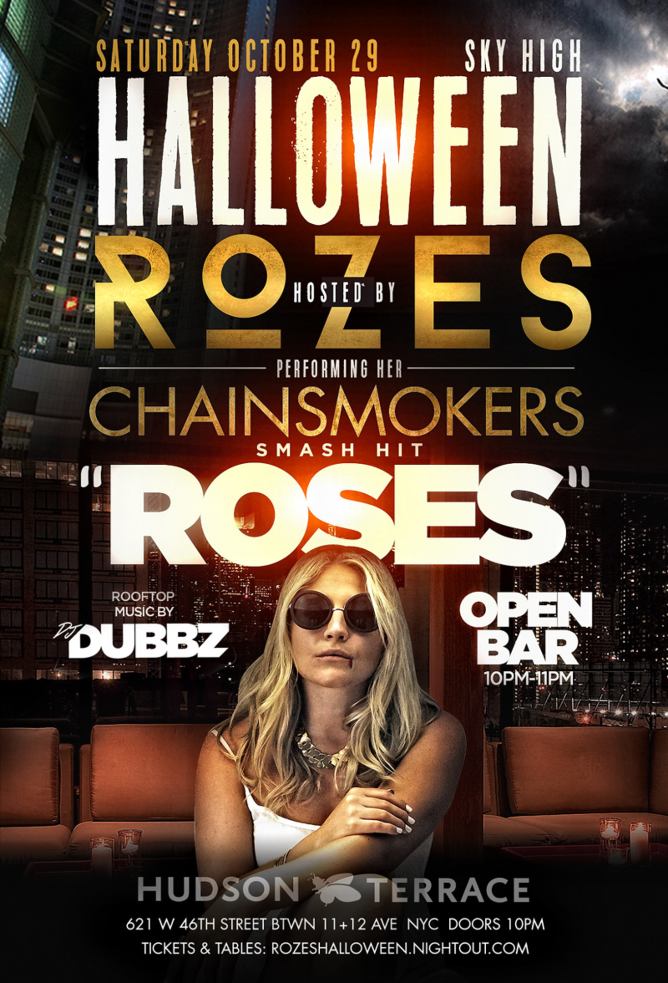 halloween hudson terrace wrozes performing her chainsmokers smash hit - Halloween On The Hudson