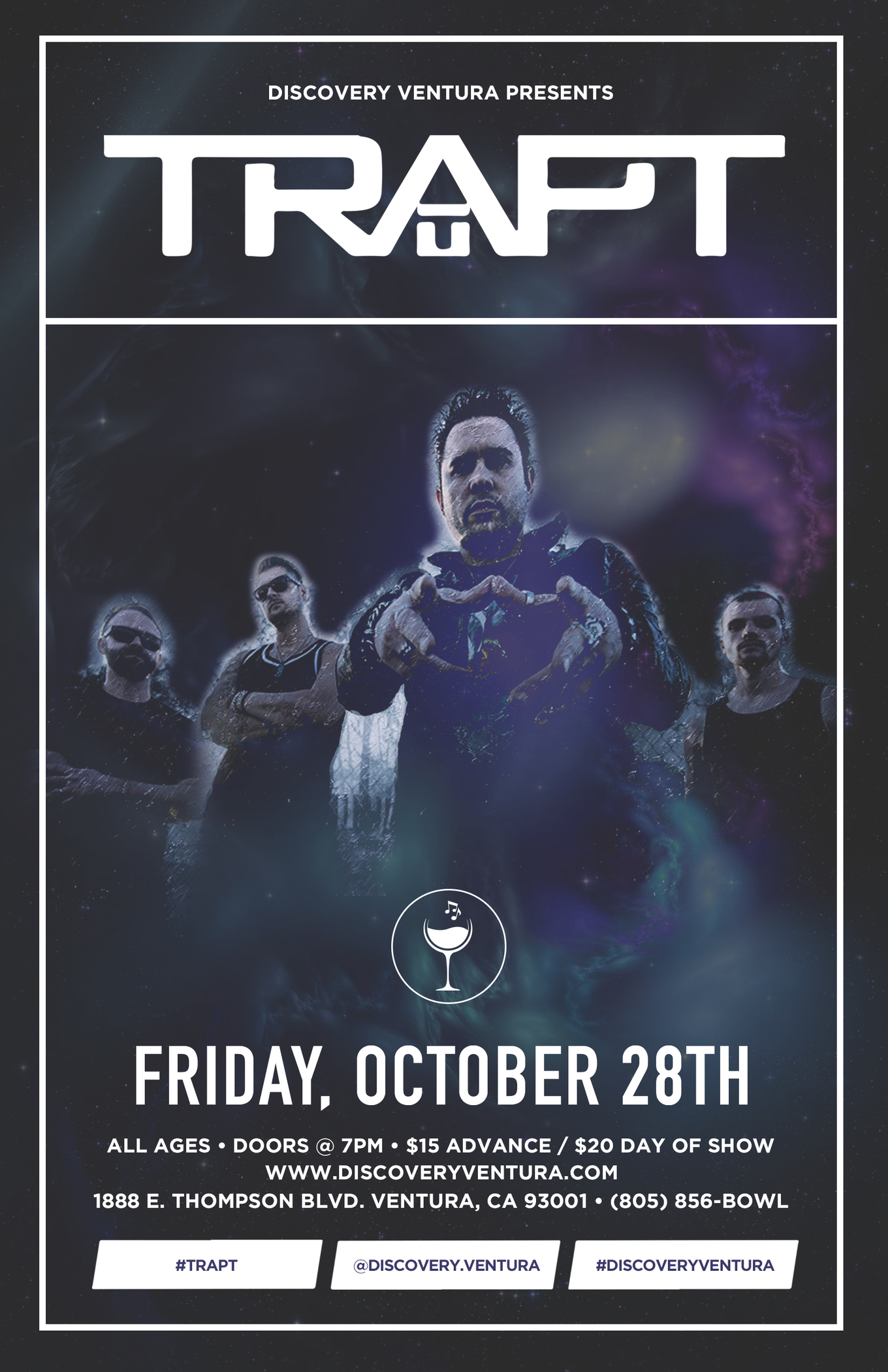 Trapt - Tickets - Discovery Ventura, Ventura, CA - October 28, 2016