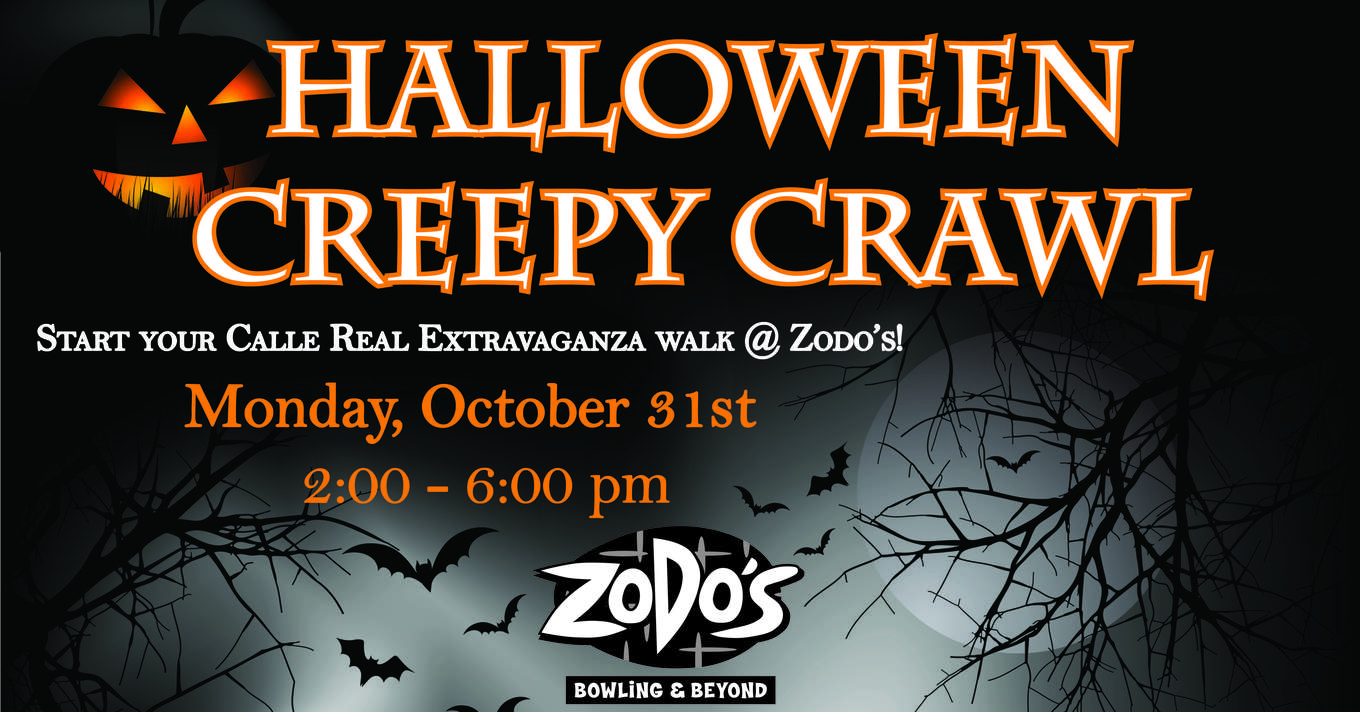 halloween creepy crawl - tickets - zodo's bowling and beyond, goleta