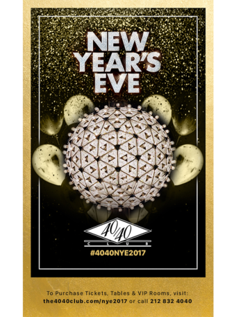 THE 40/40 CLUB NEW YEARS EVE BASH!