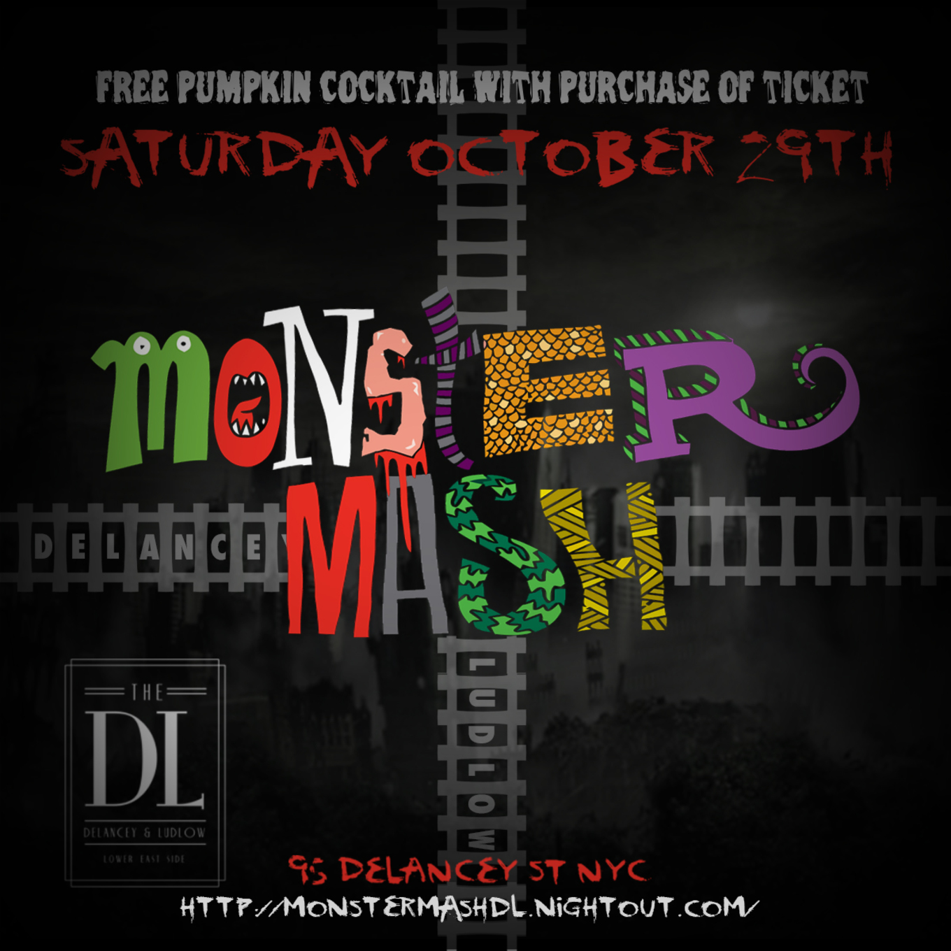 halloween monster mash at the dl - tickets - the dl, new york, ny