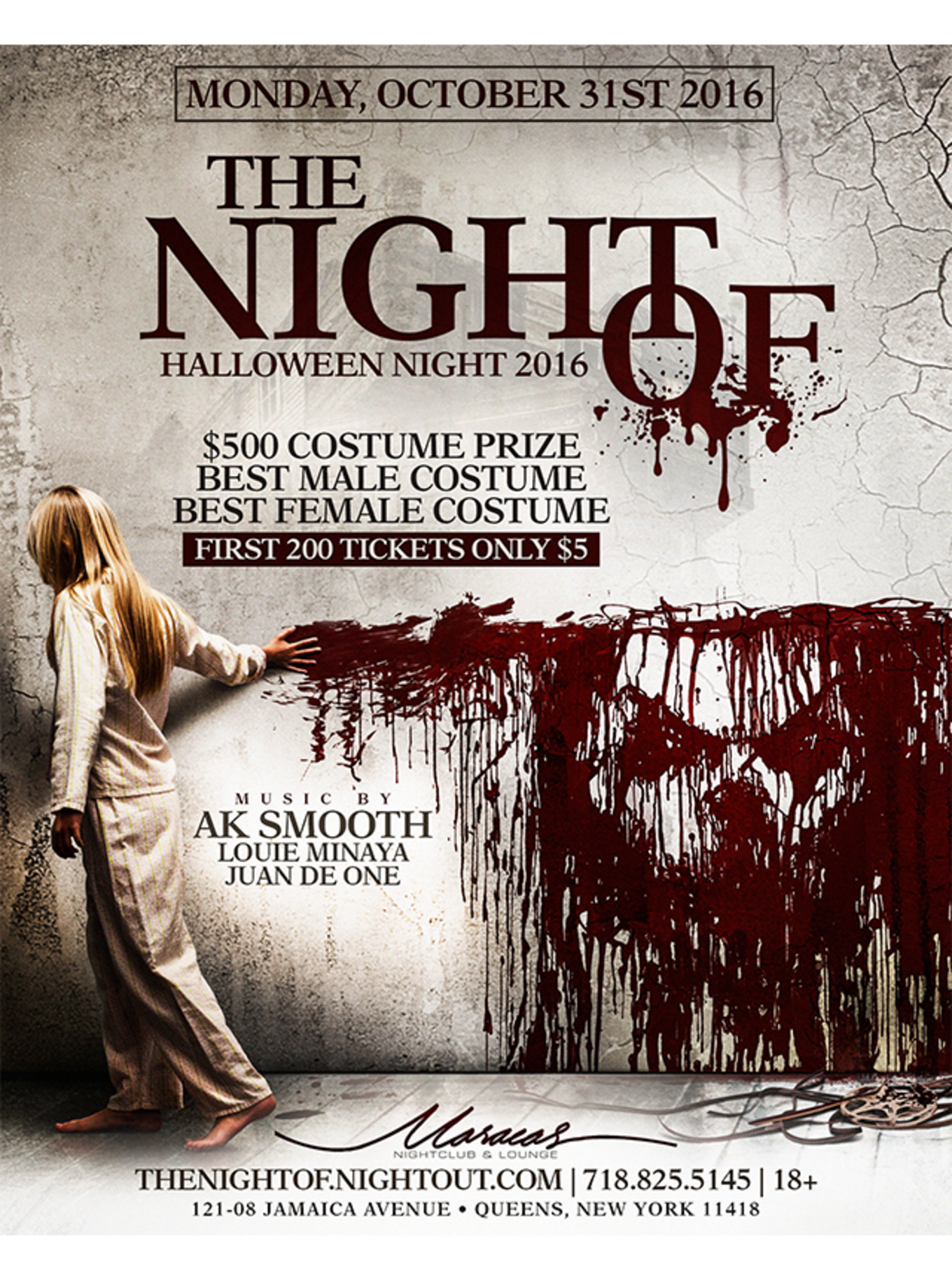 The Night Of  Halloween Night 2016  ) - Tickets - Maracas Nightclub    Lounge 87ce57d6f8b5