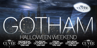 GOTHAM Halloween Weekend at Cuvee (Saturday)