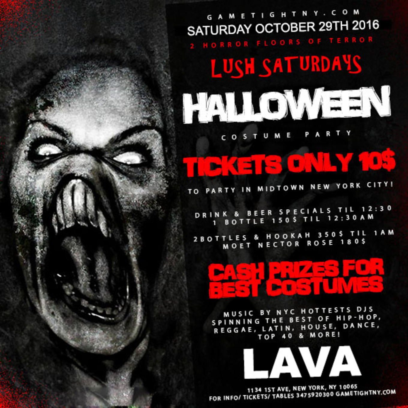 Halloween party at Lava Lounge NYC - Tickets - Lava NYC, New York ...