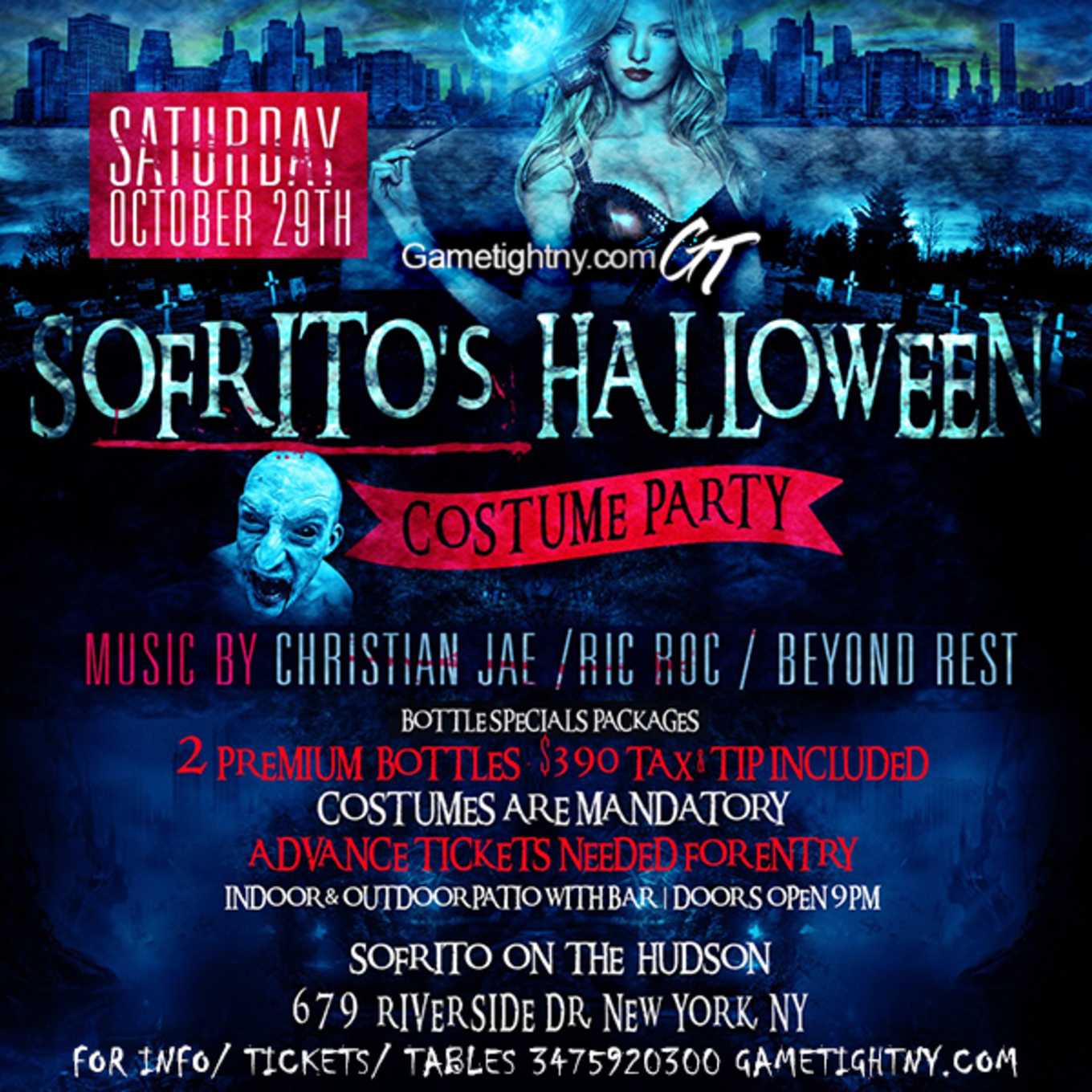 Halloween party at Sofrito NYC - Tickets - Sofrito, New York, NY ...