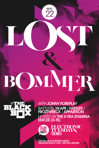 Electronic Tuesdays with Lost, Bommer, Johnny Foreplay and More