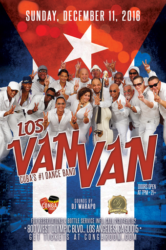 Conga Room presents Los Van Van