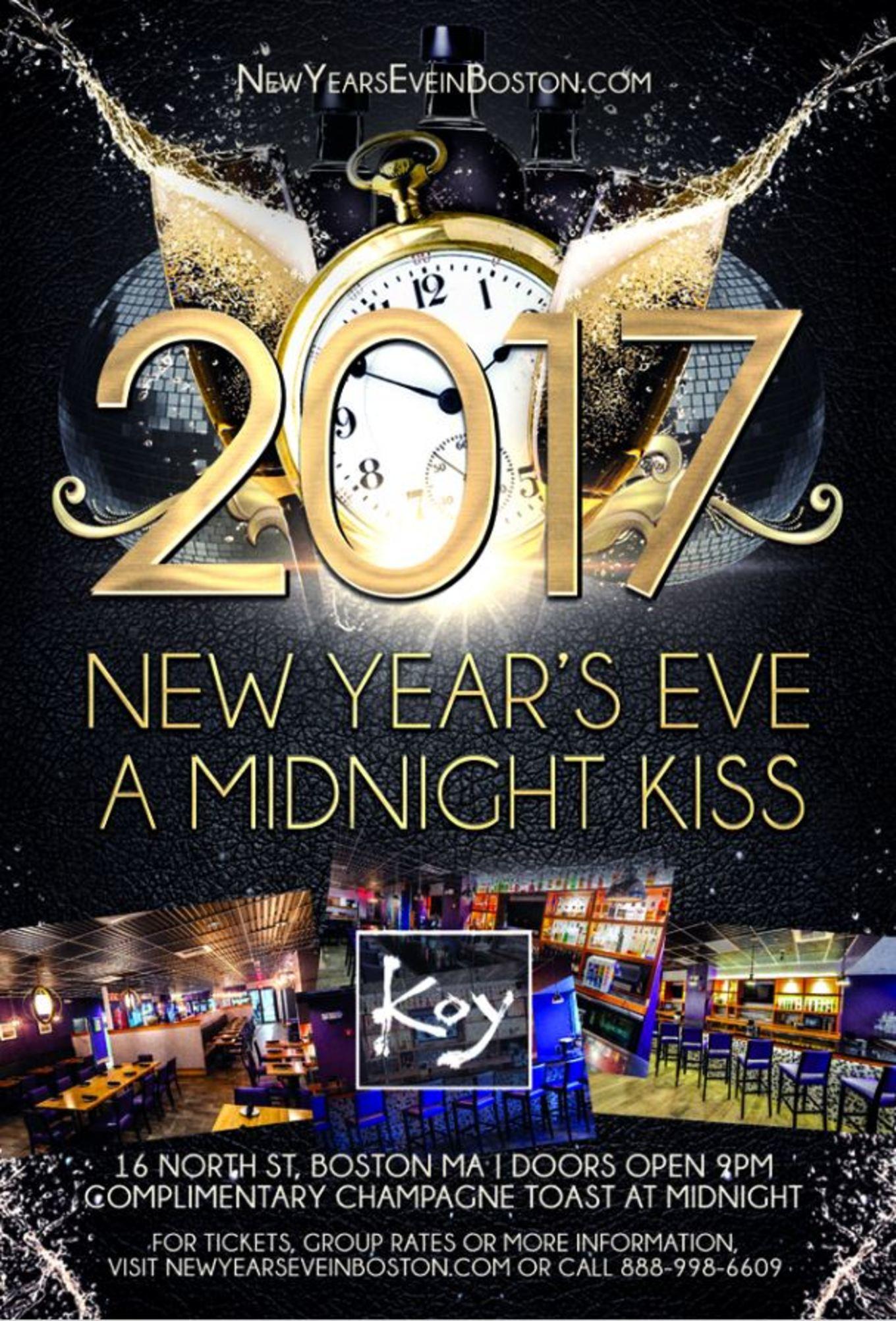 """A Midnight Kiss"" New Year's Eve at Koy - Tickets - Koy ..."