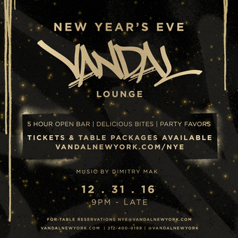 Vandal Lounge NYE 2017