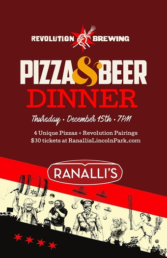 Pizza + Beer Dinner with Revolution Brewing