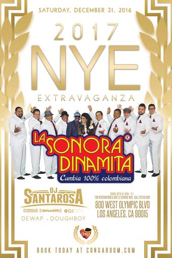 Conga Room NYE 2017 with La Sonora Dinamita