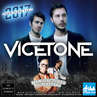 Vicetone & Manufactured Superstars at Piazza New Years Eve in Philly