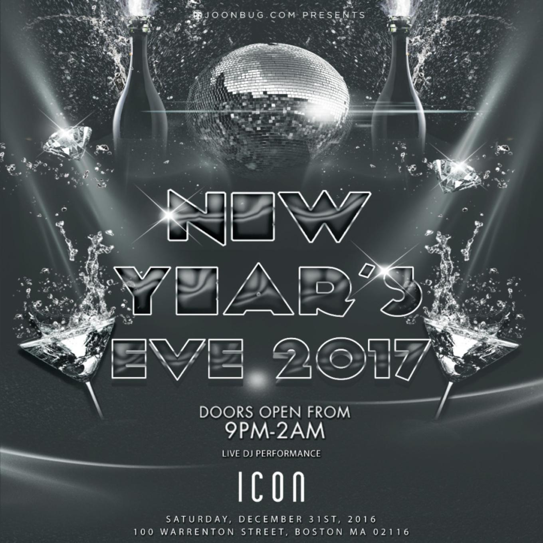 Icon Nightclub :: New Year's Eve 2017 - Icon Nightclub, Boston, MA - December 31, 2016