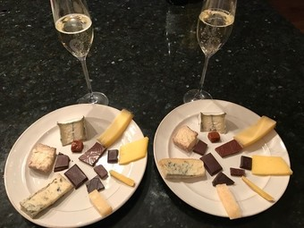 Chocolate, Bubbles + Cheese