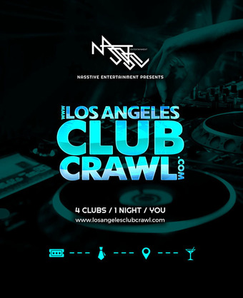 LOS ANGELES CLUB CRAWL ONLINE TICKETS ARE NOW CLOSED. TICKETS ARE AVAILABLE FOR PURCHASE AT THE EVENT CHECK IN