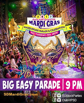 23rd Annual Gaslamp Mardi Gras Parade & Block Party | Fat Tuesday, Feb 28, 2017