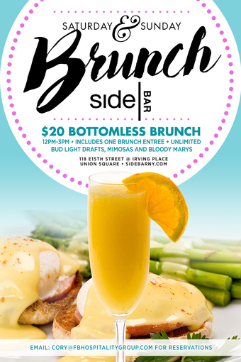 Saturday & Sunday Brunch at SideBAR!