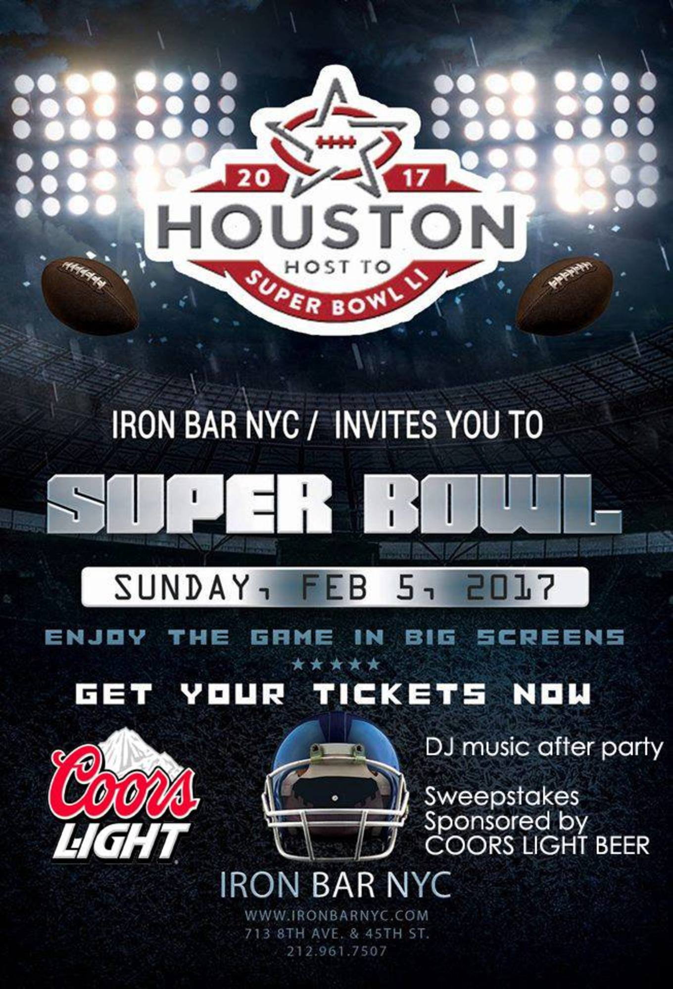 Super Bowl 2017 Sponsored by COORS LIGHT - Tickets - IRON