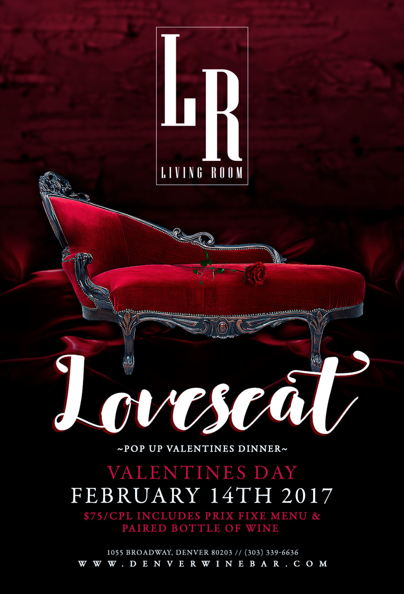Love Seat A Valentines Day Dinner At The Living Room