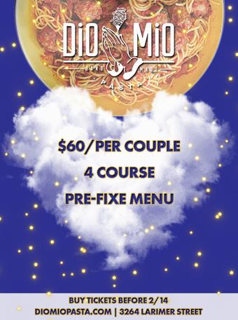 Dio Mio Valentine's Dinner Party
