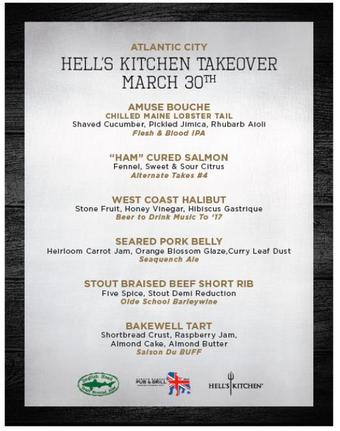 An Off Centered Hell's Kitchen Takeover March 2017 with Dogfish Head Craft Brewery