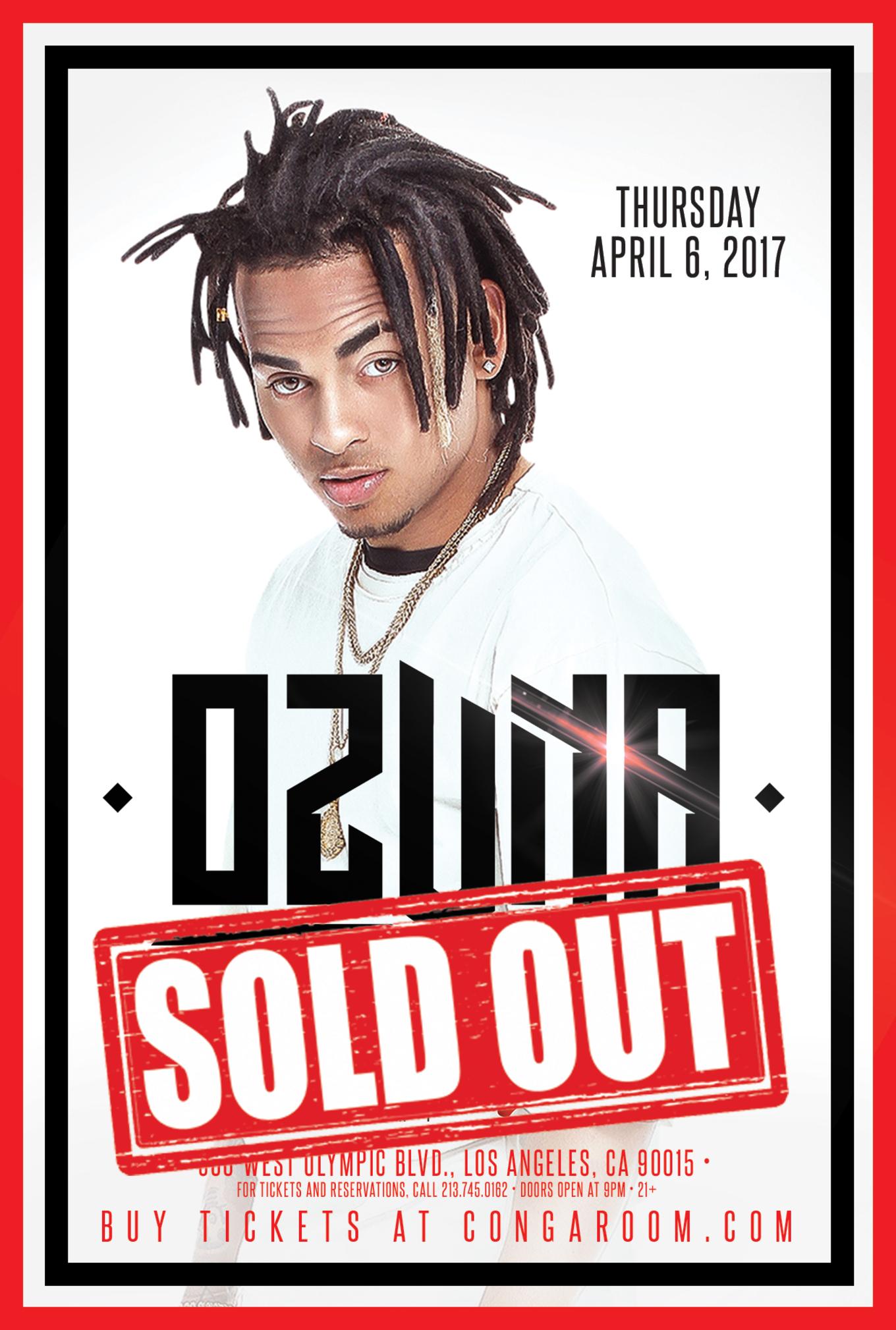 Conga Room presents Ozuna - Tickets - Conga Room, Los Angeles, CA ...