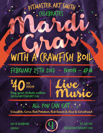Celebrate Mardi Gras with a Crawfish Boil