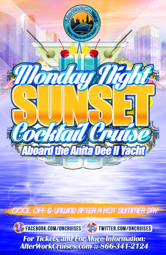 Monday Night Sunset Cocktail Cruise Aboard the Anita Dee II Yacht