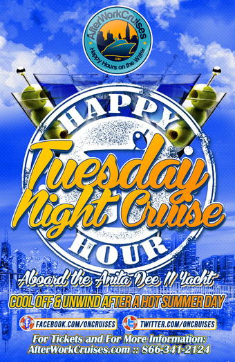 Tuesday Night Happy Hour Cruise Aboard the Anita Dee II Yacht