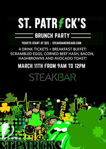 St. Patricks Day Brunch Party at SteakBar