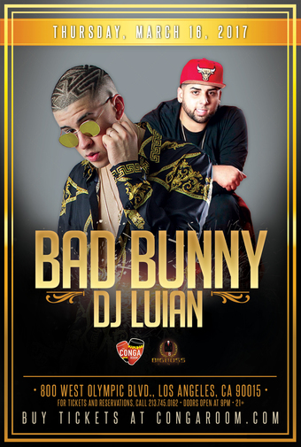 Conga Room presents Bad Bunny