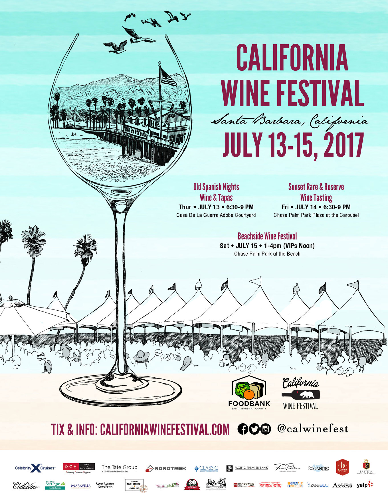 14th California Wine Festival - Santa Barbara! July 13, 14, 15, 2017