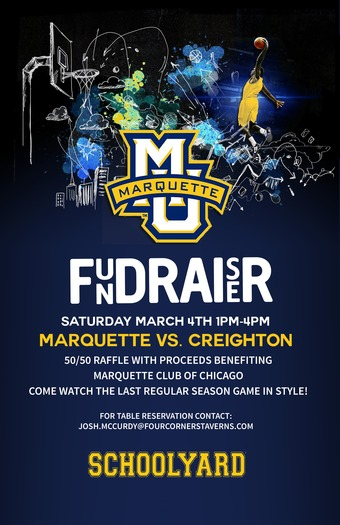 Marquette Fundraiser at Schoolyard on 3/4