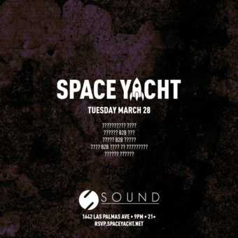 SPACE YACHT 3/28