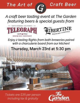 Telegraph & Libertine Tasting Event at The Garden