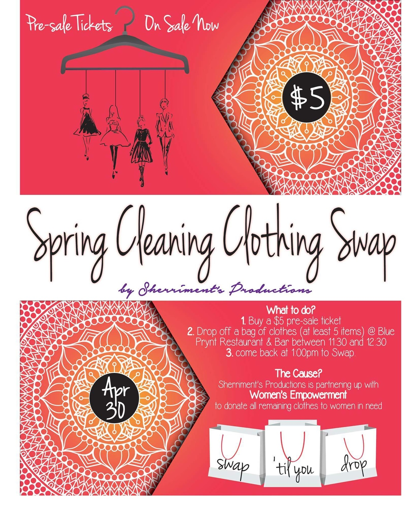 Spring Cleaning Clothing Swap - Tickets - Blue Prynt