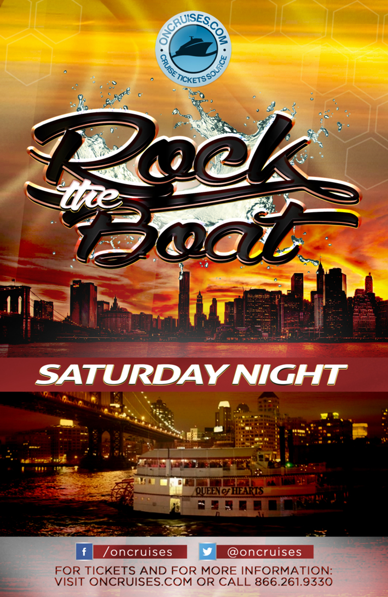 Rock the Boat Saturday Night Party Cruise Aboard the Queen of ...