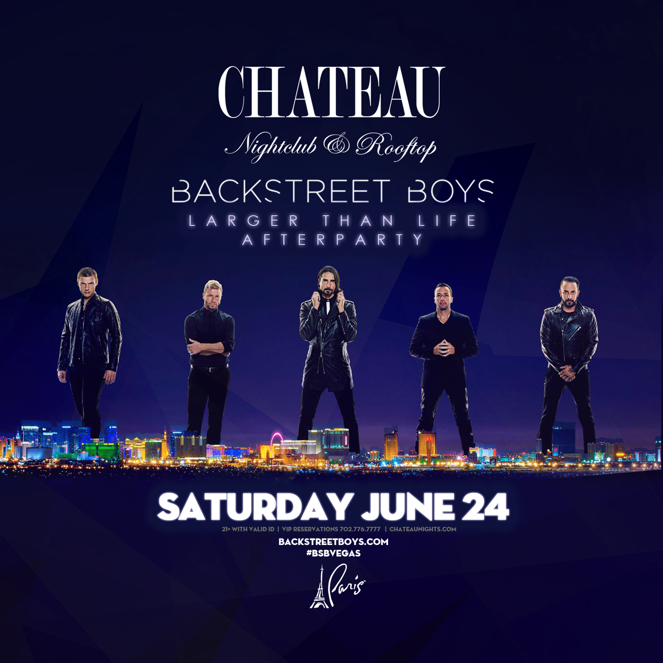 Official Backstreet Boys Afterparty Tickets Chateau