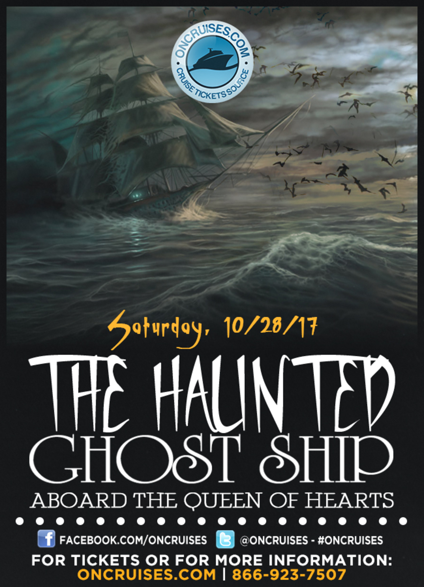 The Haunted Ghost Ship Midnight Party Cruise Aboard the Queen of ...