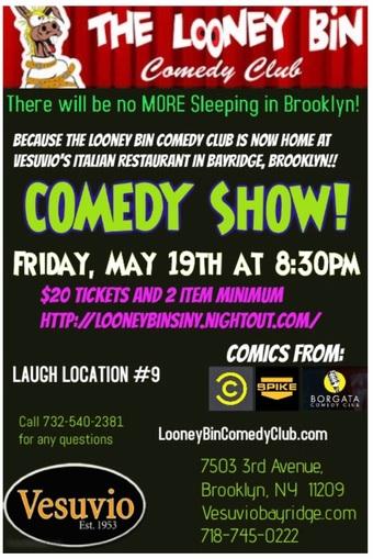 Brooklyn: Comedy Night at Vesuvio's