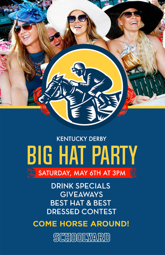 Kentucky Derby Big Hat Party at Schoolyard
