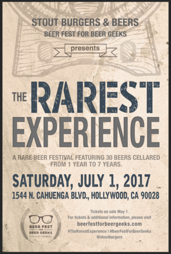 Beer Fest For Beer Geeks Presents: The Rarest Experience
